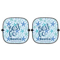 Promotional Duo Car Window Shades with company designs