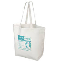 Promotional 10oz Canvas Shopping Bags in Natural Cotton with Printed Logo by Total Merchandise