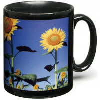 Personalised Black Full Colour Mugs for with a design printed on the side from Total Merchandise