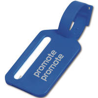 Promotional printed Plastic Travel Luggage Tags available in blue from Total Merchandise