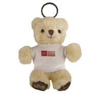 Promotional Chester Bear Keyrings with company logos