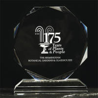 Custom Engraved Medium Crystal Octagon Awards with Individual Names by Total Merchandise
