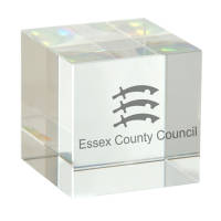 Promotional 50mm Optical Crystal Cubes for Corporate Gifts