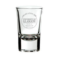 Promotional Flared Top Tot Glasses Custom Engraved with your Logo by Total Merchandise