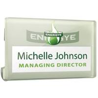 Promotional Corporate Name Badges Printed with Your Logo from Total Merchandise