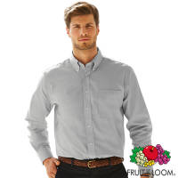 Promotional Fruit of the Loom Mens Long Sleeve Oxford Shirts for uniform