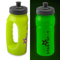 Glow in the Dark Jogging Bottles in Yellow