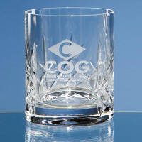 Engraved Flamenco Lead Crystal Whiskey Glasses for Corporate Gifts