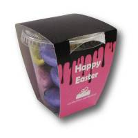 Promotional Foiled Chocolate Egg Tubs for Easter Merchandise