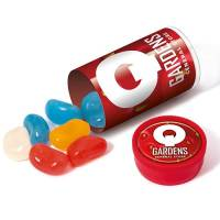 Promotional Mini Tubes of Jelly Beans Printed with a Company Logo from Total Merchandise