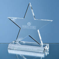 Personalised 11cm Optical Crystal Star Award for Luxury Corporate Gifts