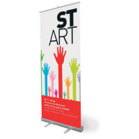 Promotional printed Roll Up Banners with your custom design to 1 side from Total merchandise