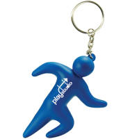Promotional Runner Stress Keyring for Fitness Merchandise