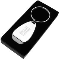 Promotional Metal Bottle Opener Keyring with an engraved logo from Total Merchandise