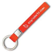Silicon Strap Promotional Keyring Fob In Red From Total Merchandise