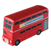 Personalised Stress Double Decker Bus with a company logo printed on the side