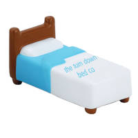 Promotional printed Stress Hospital Beds with branding on the sheet from Total Merchandise