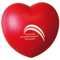 Promotional Stress Love Heart in Red Printed with Your Logo from Total Merchandise