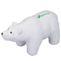Promotional Stress Polar Bear for Marketing Handouts