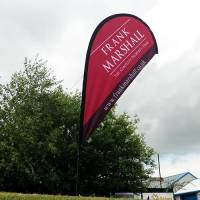Promotional Teardrop Banner Flags Printed with Your Logo from Total Merchandise