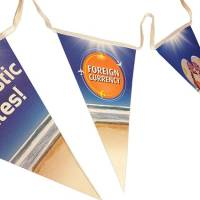 Printed Triangle Bunting Printed with Your Logo from Total Merchandise