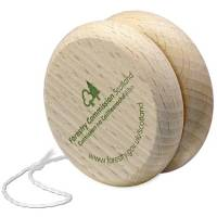Promotional Wooden Eco Yoyo in Natural Wood Printed with a Logo from Total Merchandise