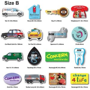 Promotional fridge magnets with company logo