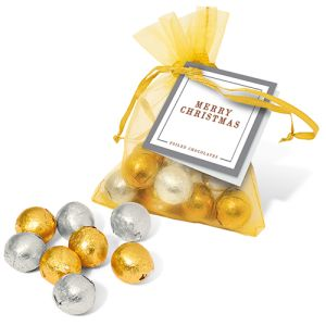 Christmas Chocolate Organza Bags