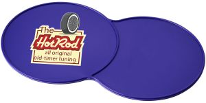 Purple Promotional Double Coasters Advertise Your Logo