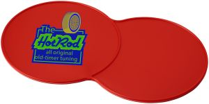 Red Branded Double Coasters Corporate Giveaways