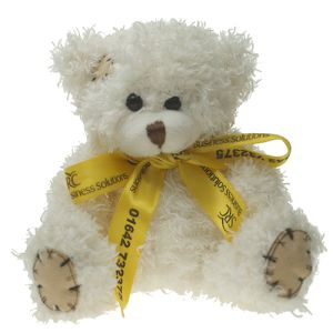 12cm Paw Teddy Bears with Bows in Latte