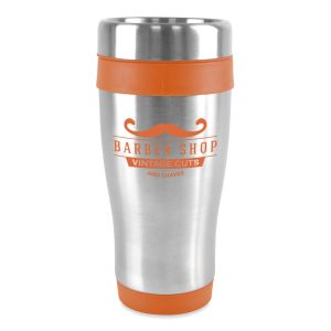 Corporate branded travel mugs for business & marketing