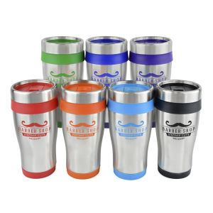 Promotional travel mugs in a wide choice of colours with your logo