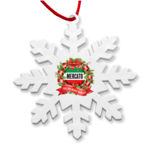 Corporate branded Christmas decorations for low-cost yet eco-friendly festive giveaways.