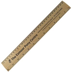 Promotional 30cm Wood Rulers for Company Merchandise