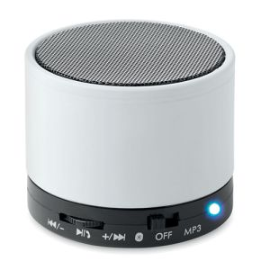Round Bluetooth Speakers in White