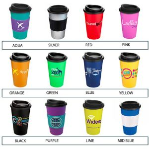 Custom printed thermal mugs for commuting colours