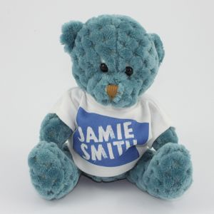15cm Waffle Bears with T Shirts in Storm Berry