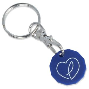 Blue Branded Recycled Trolley Coins Business Gifts