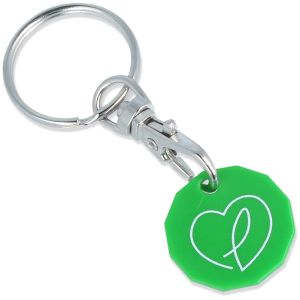 Green Promotional Eco-Friendly Trolley Coins Corporate Giveaways