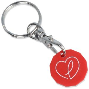 Red Promotional Recycled Plastic Keyrings Branded Giveaways