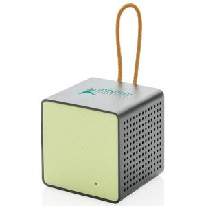 Wireless Cube Speakers in Green/Black