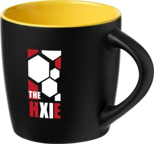 Two Tone Rivera Mugs in Black/Yellow