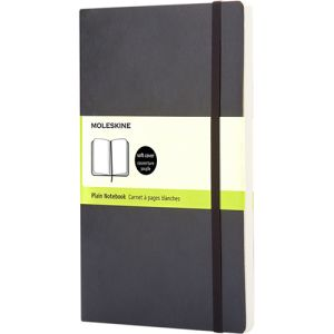 Large Moleskine Soft Cover Plain Notebook in Black