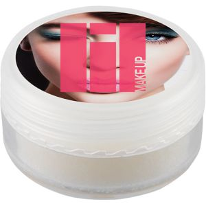 Lip Balm Pots in White/Clear