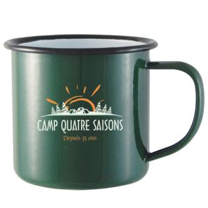 Promotional mugs branded with corporate details