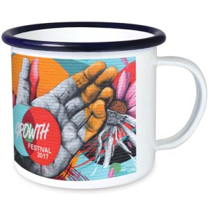 10oz Premium Full Colour Enamel Mugs