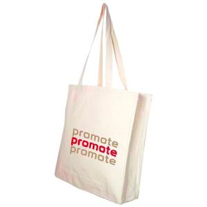 Promotional 10oz Canvas Tote Bags printed with company logo