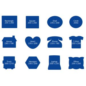 Branded mouse mats for desktop advertising shapes