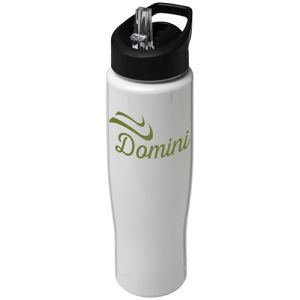 700ml Tempo Spout Lid Sports Bottles in White
